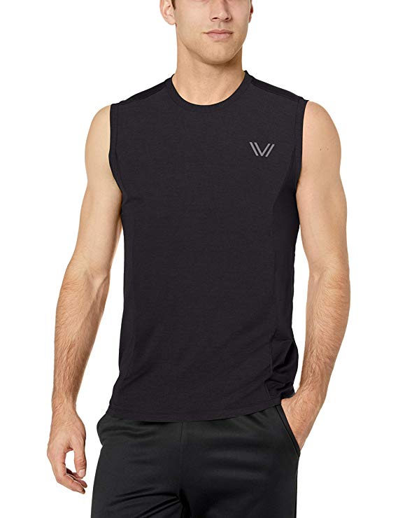 Amazon Brand - Peak Velocity Men's VXE Cloud Run Sleeveless Quick-Dry Athletic-Fit Tank